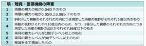 額改定(1年未満/眼聴覚言語)